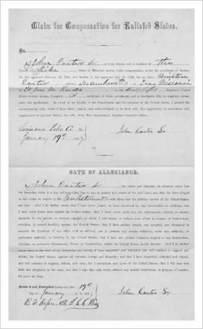 Slave Compensation Claim
