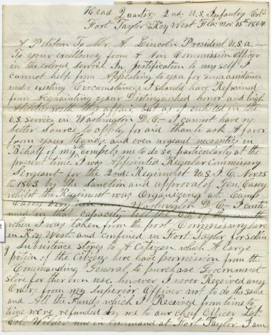 Taylor to Lincoln Letter